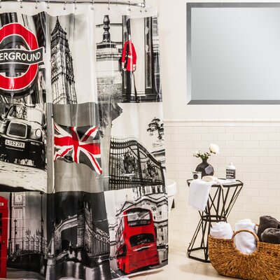 OK UK London Shower Curtain