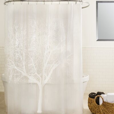 Circletree Tree of Life Shower Curtain Color: Peal