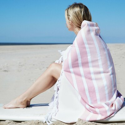 Striped Beach Towel Color: Coral
