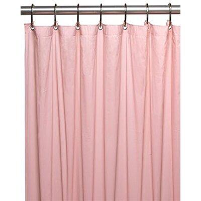 Glenmoor Royal Bath 3 Gauge Vinyl Shower Curtain Liner Color: Pink