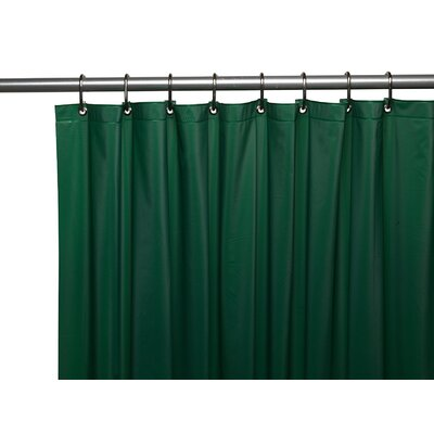 Glenmoor Royal Bath 3 Gauge Vinyl Shower Curtain Liner Color: Evergreen
