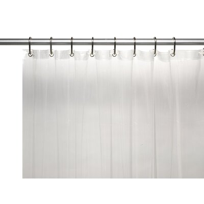Glenmoor Royal Bath 3 Gauge Vinyl Shower Curtain Liner Color: Clear