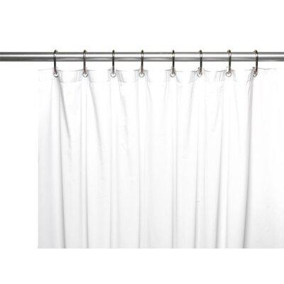 Glenmoor Royal Bath 3 Gauge Vinyl Shower Curtain Liner Color: White