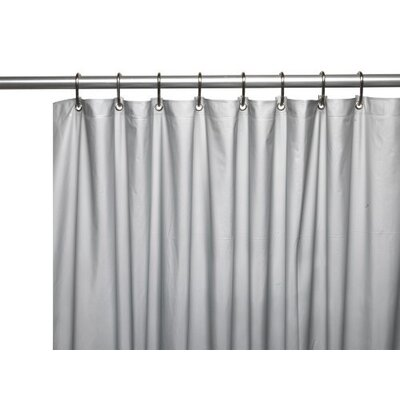 Glenmoor Royal Bath 3 Gauge Vinyl Shower Curtain Liner Color: Gray