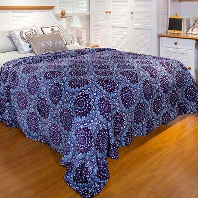 Norvin Plum Mandalla Burt Microplush Blanket