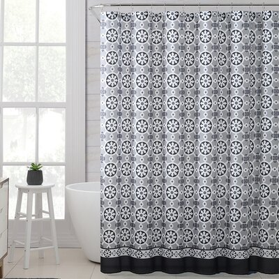 Mabelle Royal Bath Polyester Shower Curtain Color: Black