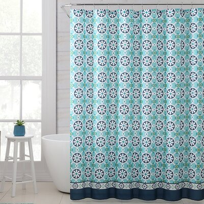Mabelle Royal Bath Polyester Shower Curtain Color: Turquoise