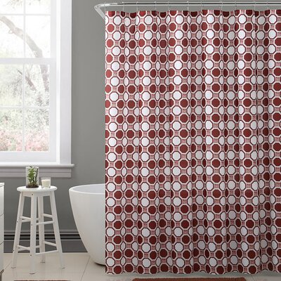 Cristen Royal Bath Geometric Tiles Polyester Shower Curtain