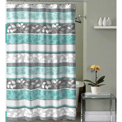 Mirtha Floral Canvas Fabric Shower Curtain