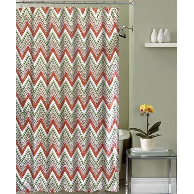 Mirtha Chevron Canvas Fabric Shower Curtain