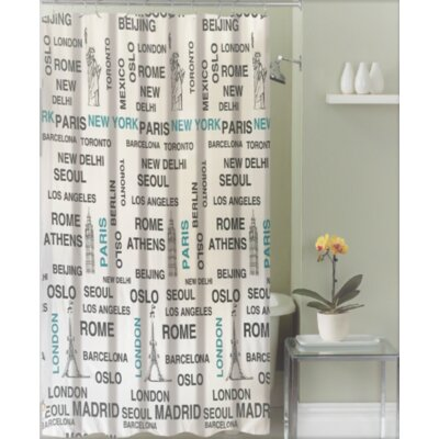 Izquierdo Around the World Canvas Fabric Shower Curtain