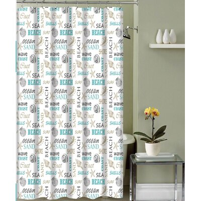Carlton Paradise Shore Canvas Fabric Shower Curtain