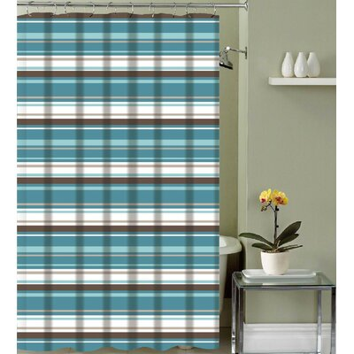 Izquierdo Classic Stripe Fabric Shower Curtain