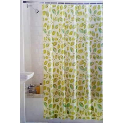 Laurel Tropical Leaves Vinyl Shower Curtain
