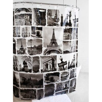 McSheffrey Bath Paris Glam Landmarks Shower Curtain