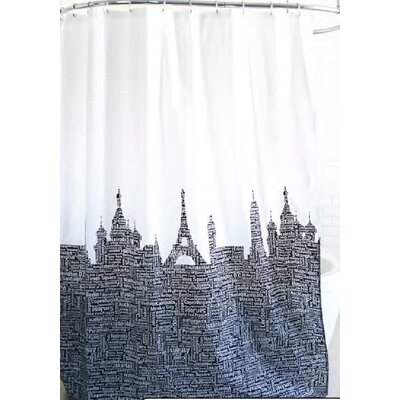 Blondelle Bath Metro Landmarks Fabric Shower Curtain