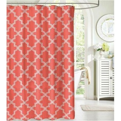 Camelot Bath Mosaico Fabric Shower Curtain