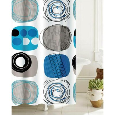 Rushin Bath Abstract Coils Shower Curtain