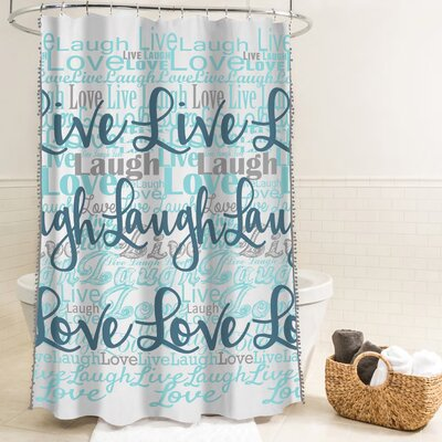 McSheffrey Bath Live Laugh Love Fabric Shower Curtain