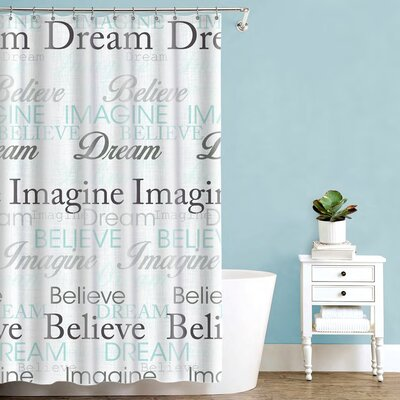 McSheffrey Bath Dream Imagine Believe Inspirational Shower Curtain