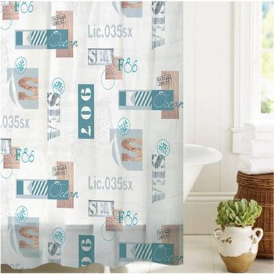 McSheffrey Bath License to Sail Shower Curtain