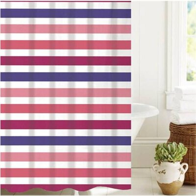 McSheffrey Bath Summer Stripe Shower Curtain EBDG3530 43873714
