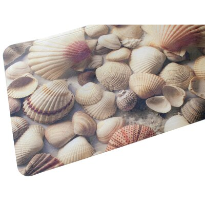 Seashells Fabric Printed Bath Mat