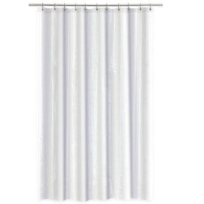4 Gauge Shower Curtain Liner Color: White