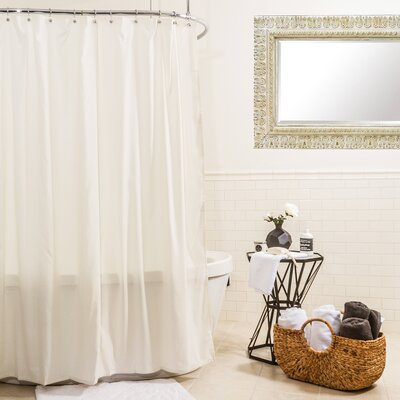 Hydro Microfiber Shower Curtain Color: Ivory