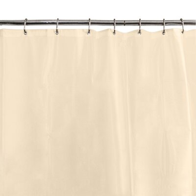 6G Peva Shower Curtain Liner Color: Beige