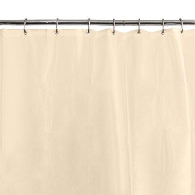 6G Peva Shower Curtain Liner Color: Beige