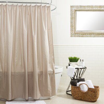 Ascent Microfiber Shower Curtain Color: Taupe