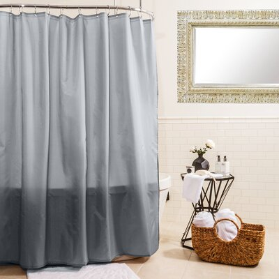 Fabric Shower Curtain Color: Silver