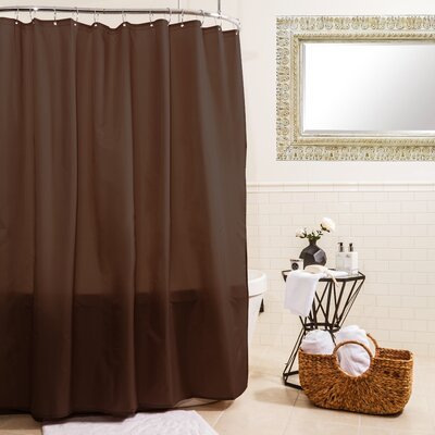 Fabric Shower Curtain Color: Chocolate