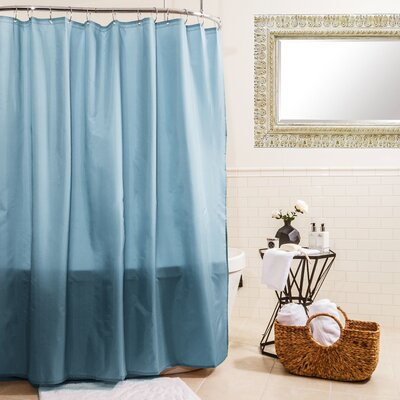 Fabric Shower Curtain Color: Powder Blue