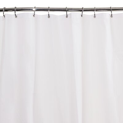 6G Peva Shower Curtain Liner Color: White