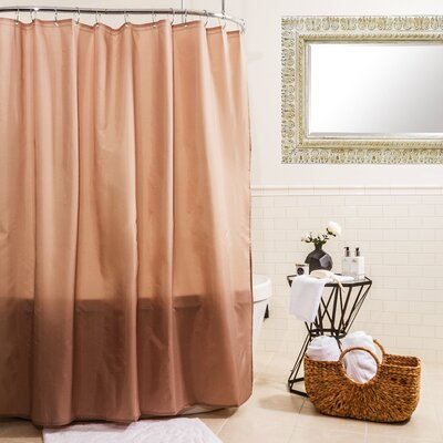 Fabric Shower Curtain Color: Linen