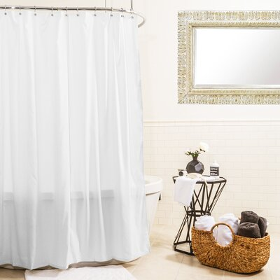 Hydro Microfiber Shower Curtain Color: White