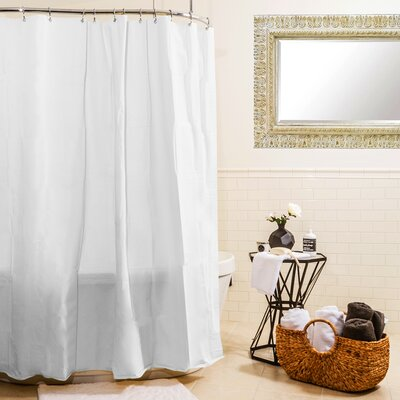 Heavy Gauge Shower Curtain Liner Color: White