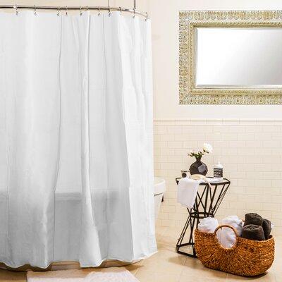 Heavy Gauge Shower Curtain Liner Color: White