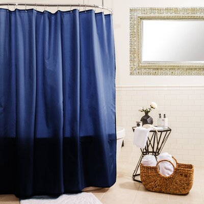 Fabric Shower Curtain Color: Navy