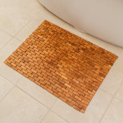 Chips Wood Bath Rug
