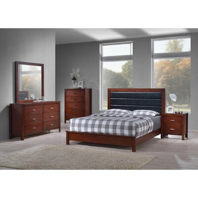 Vanderhoff Panel 5 Piece Bedroom Set Bed Size: Queen, Color: Cherry