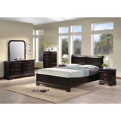 Arsen Panel 5 Piece Bedroom Set Bed Size: Full