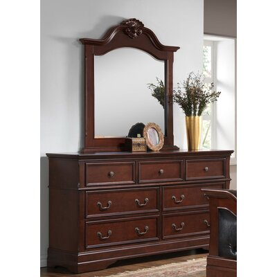 7 Drawer Combo Dresser with Mirror