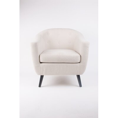 Mid Century Armchair Color: Cream