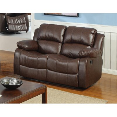 Bonded Leather Recliner Reclining Loveseat