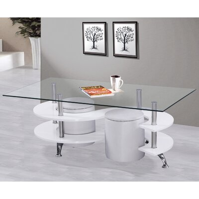 Coffee Table Set Base Color: White