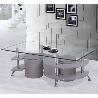 Coffee Table Set Base Color: Gray