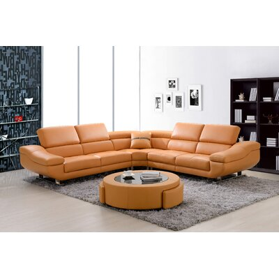 Sectional Upholstery: Orange